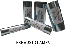 The five sizes of exhaust clamp