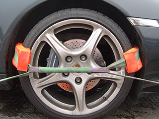 Wheel Protection Pads in use